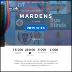 Screen shot of the Marden Signs & Designs Ltd website.