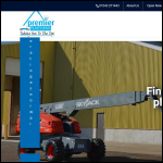 Screen shot of the Premier Platforms Ltd website.