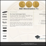 Screen shot of the S & I Electronics plc website.