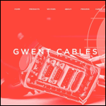 Screen shot of the Gwent Cables website.