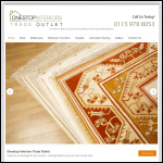 Screen shot of the Onestop Interiors Trade Outlet website.