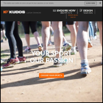 Screen shot of the Kudos Sports website.