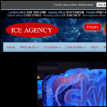 Screen shot of the Ice Agency website.