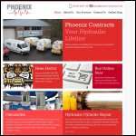 Screen shot of the Phoenix Contracts Ltd website.