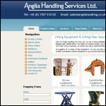 Screen shot of the Anglia Handling Services Ltd website.
