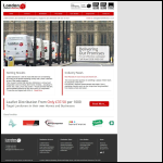 Screen shot of the London Letterbox Marketing website.