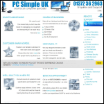 Screen shot of the Pc Simple Uk website.