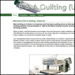 Screen shot of the B & A Quilting Co. Ltd website.