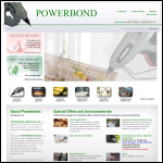 Screen shot of the Powerbond Adhesives Ltd website.