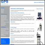 Screen shot of the GPS Sprayers Ltd website.