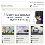 Screen shot of the Blythin & Brown Insurance Brokers Ltd website.