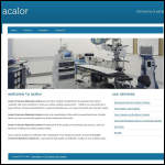 Screen shot of the Acalor Protective Materials Ltd website.