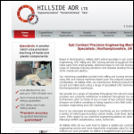 Screen shot of the Hillside ADR Ltd website.