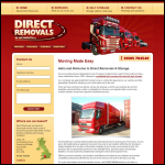 Screen shot of the Direct Removals & Storage of Weymouth Ltd website.