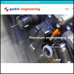 Screen shot of the Godric Engineering Ltd website.