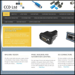 Screen shot of the Circuit Component Distribution Ltd website.