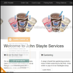 Screen shot of the John Stayte Services website.