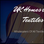 Screen shot of the UK Homes And Textiles website.