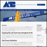Screen shot of the A & B Crane & Electrical Services Ltd website.
