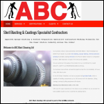Screen shot of the Abc Blast Cleaning Ltd website.