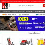 Screen shot of the TC Fixings Ltd website.