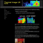 Screen shot of the Thermal Image Uk website.