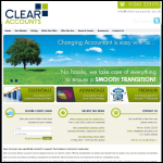 Screen shot of the Clear Accounts Ltd website.