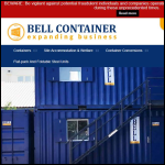Screen shot of the Bell Container Trading Ltd website.
