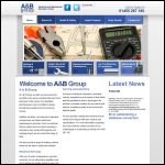 Screen shot of the A & B Group website.