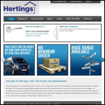 Screen shot of the Fp Herting & Son plc website.