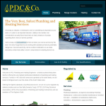Screen shot of the Pdc Plumbing & Heating website.