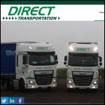 Screen shot of the Direct Transportation Ltd website.