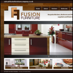 Screen shot of the Fusion Furniture website.