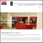 Screen shot of the A1 Shutters website.