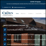 Screen shot of the Crown Windows website.