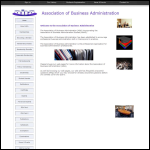 Screen shot of the Association of Business Administration website.