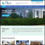 Screen shot of the ASBA Architects Ltd website.