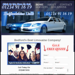 Screen shot of the Bedfordshire Limo website.