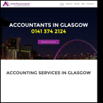 Screen shot of the Avid Accountants website.