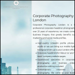 Screen shot of the Corporate Photography Ltd website.