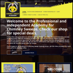 Screen shot of the Chimney Sweep Academy website.
