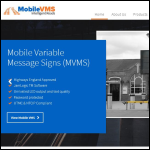 Screen shot of the Mobile Variable Message Signs Ltd website.