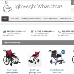 Screen shot of the Lightweight Wheelchairs Direct website.