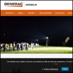 Screen shot of the Generac Mobile Products UK Ltd website.