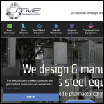 Screen shot of the Stainless Steel Manufacturing & Equipment website.