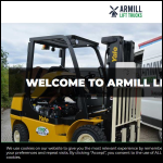 Screen shot of the Armill Lift Trucks Ltd website.