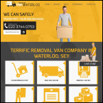 Screen shot of the Removal Van Waterloo Ltd website.