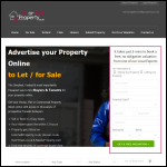 Screen shot of the Let or Sell Property UK website.