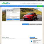 Screen shot of the AutoPlus website.
