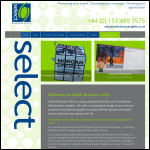 Screen shot of the Select Business Gifts website.